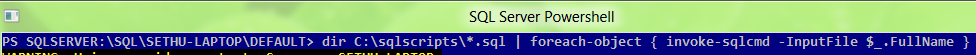 how to run scripts through sql